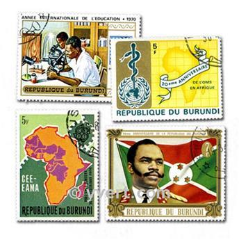 BURUNDI: lote de 100 selos