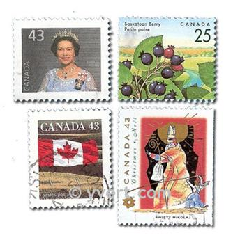 CANADÁ: lote de 200 sellos
