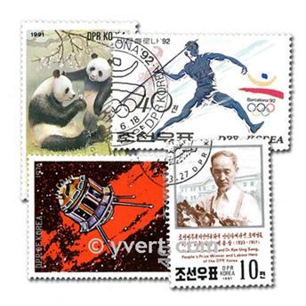 COREE DU NORD : pochette de 300 timbres
