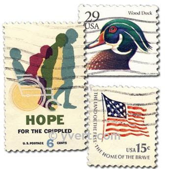 ETATS-UNIS : pochette de 300 timbres