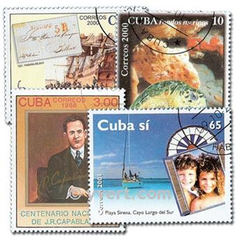 CUBA : pochette de 300 timbres