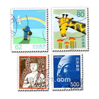 JAPAN: envelope of 100 stamps