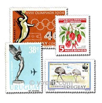 URUGUAY: lote de 100 sellos