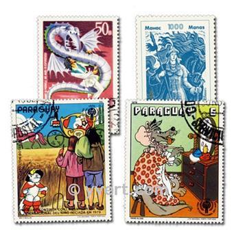 CONTES : pochette de 50 timbres