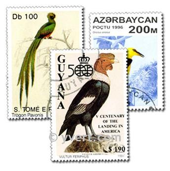 BIRDS: envelope of 1500 stamps