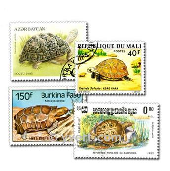 TORTUES : pochette de 50 timbres