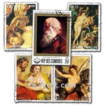 RUBENS : pochette de 50 timbres