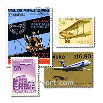 AVIONS : pochette de 1000 timbres