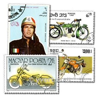 MOTOS : pochette de 100 timbres