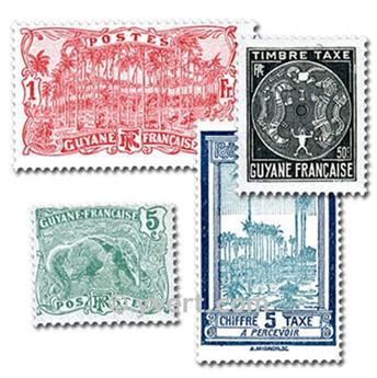 GUYANE FRANCAISE : pochette de 25 tmbres