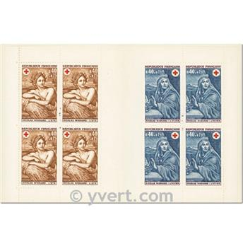 n° 2018 -  Timbre France Carnets Croix Rouge (1969)
