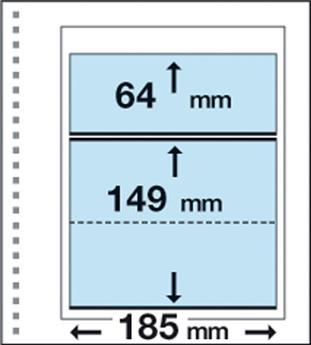 Recharges CK12 : 1 bande (64x185mm) et 1 poche (149x185mm)