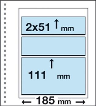 Recharges CK16 : 1 poche (111x185mm) et 2 bandes (51x185mm)