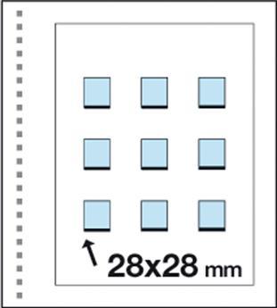 Recharges CK25 : 9 pochettes (28x28mm)