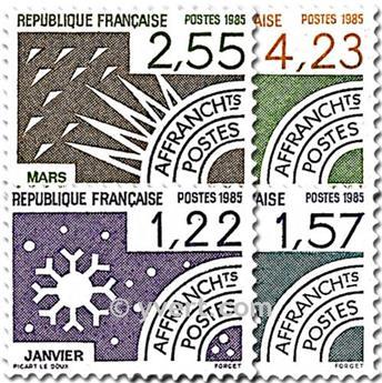 n° 186/189 -  Selo França Pré-obliterados