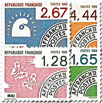 n° 190/193 -  Selo França Pré-obliterados