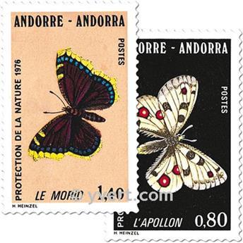 n° 258/259 -  Selo Andorra Correios