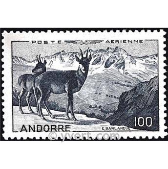 n° 1 -  Timbre Andorre Poste aérienne
