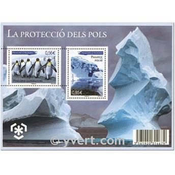 n° 2 -  Selo Andorra Blocos e folhinhas