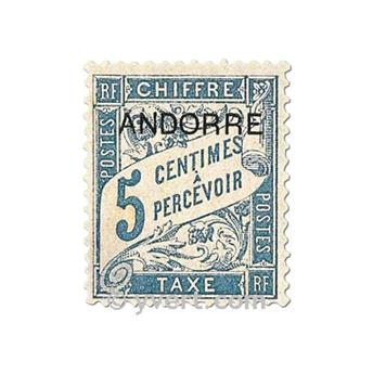 n° 1/8 -  Timbre Andorre Taxe