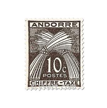 n° 21/31 -  Selo Andorra Taxa