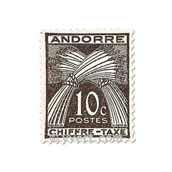 n° 21/31 -  Timbre Andorre Taxe