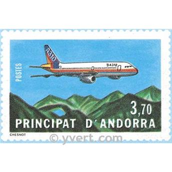 n° 1 -  Timbre Andorre Aérogramme