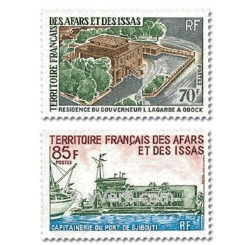 n° 349/350  -  Selo Afars e Issas Correios