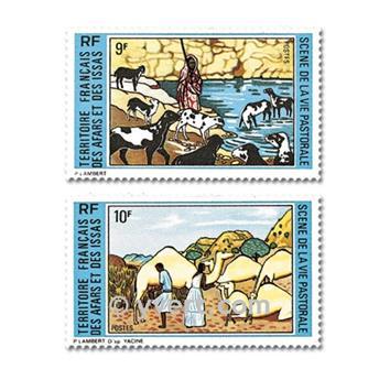 n° 381/382 -  Timbre Afars et Issas Poste
