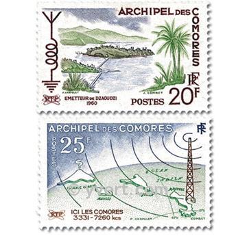 n° 17/18 -  Timbre Comores Poste