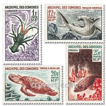 n° 35/38 -  Timbre Comores Poste