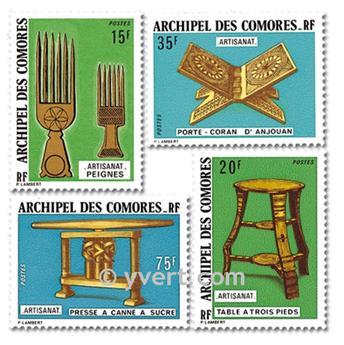 n° 91/94 -  Selo Comores Correios