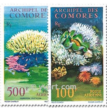 n° 5/6 -  Timbre Comores Poste aérienne