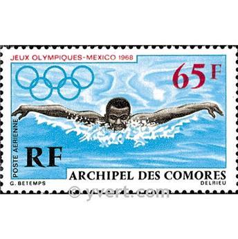 n° 25 -  Selo Comores Correio aéreo