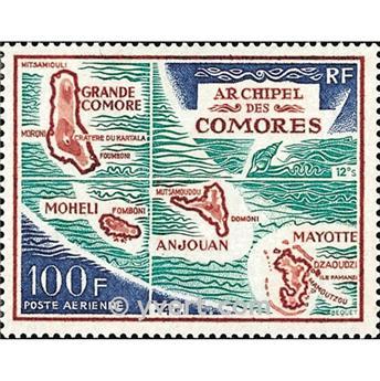n° 36 -  Selo Comores Correio aéreo