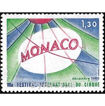 n° 1248 -  Timbre Monaco Poste