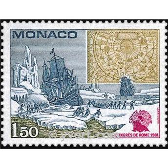 n° 1301 -  Selo Mónaco Correios