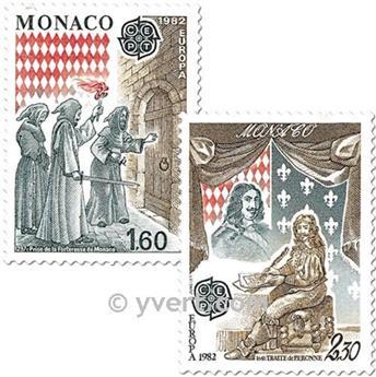 n° 1322/1323 -  Selo Mónaco Correios