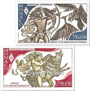 n.o 1342/1343 -  Sello Mónaco Correos