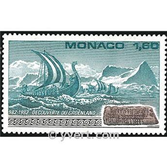 n° 1356 -  Timbre Monaco Poste