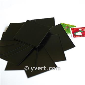 Pochettes simple soudure - Lxh:36x36mm (Fond noir)