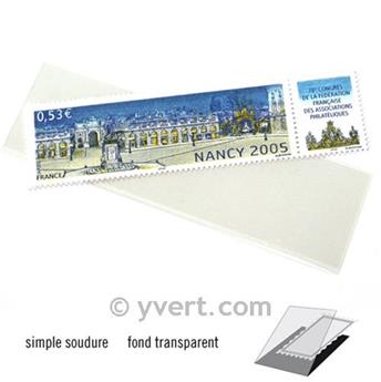 Pochettes simple soudure - Lxh:102x27mm (Fond transparent)