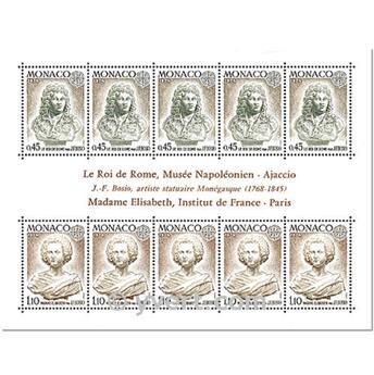 n° 9 -  Selo Mónaco Blocos e folhinhas