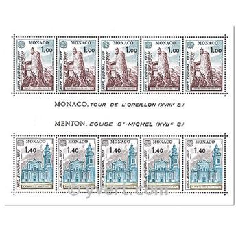 n° 13 -  Selo Mónaco Blocos e folhinhas