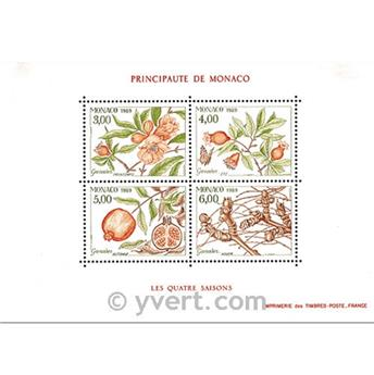 n.o 44 -  Sello Mónaco Bloque y hojitas