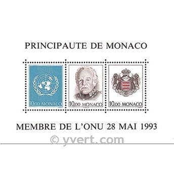 n.o 62 -  Sello Mónaco Bloque y hojitas
