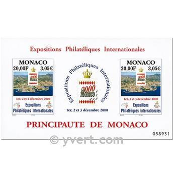 n.o 85 -  Sello Mónaco Bloque y hojitas
