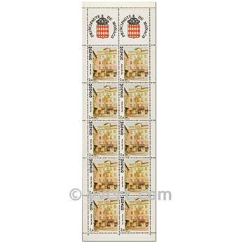 nr. 4 -  Stamp Monaco Booklet Panes