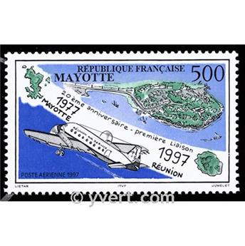 n.o 2 -  Sello Mayotte Correo aéreo