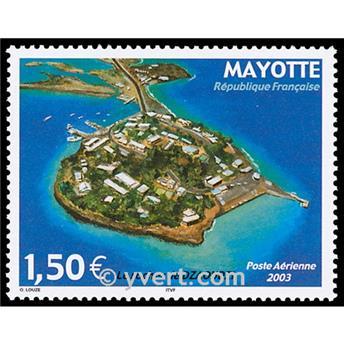 n° 6 -  Timbre Mayotte Poste aérienne
